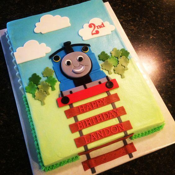 Sheet Cakes Engine And Thomas The Tank On Pinterest