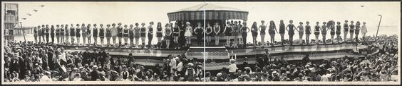 Bathing Girl Parade, Crystal Pier, Calif.