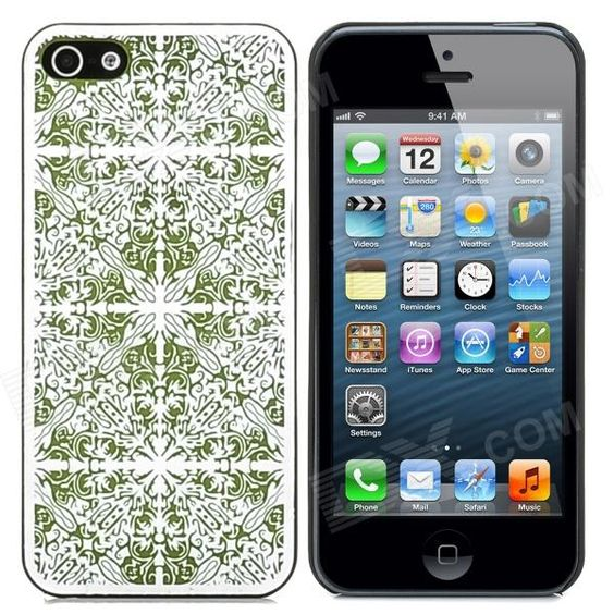 Laser Flower Pattern Protective PC Back Case for iPhone 5 - nice to cover your phone..  MediaMatrixUnlimited.com