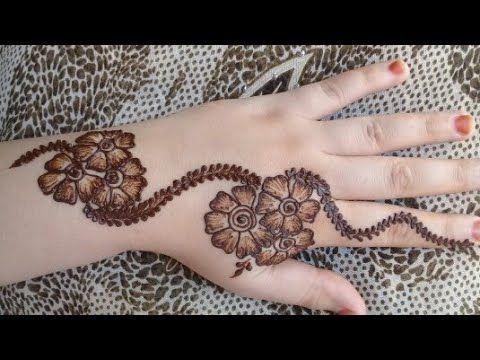 أجمل نقش بالحناء خفيف و صيفي Youtube Mahndi Design Henna Hand Tattoo Make It Yourself