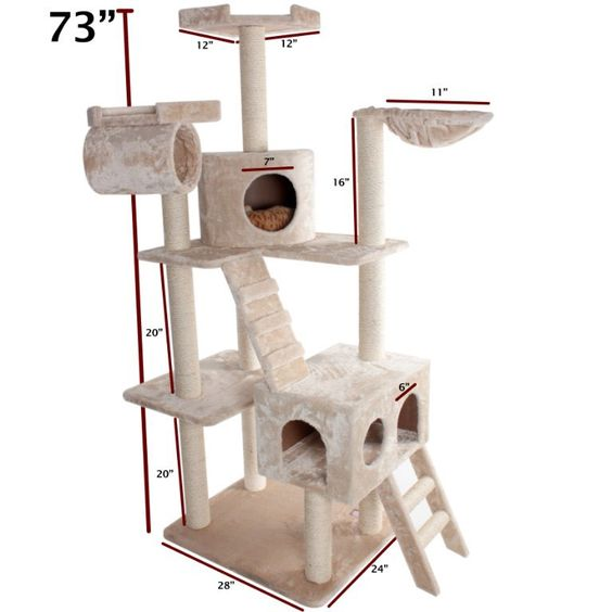 Super cool cat tree perfect for mulitple cats to have their very own playground !