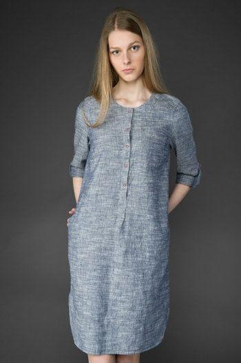 Robe femme lin robe lin pur vêtements de lin des par LinenStory
