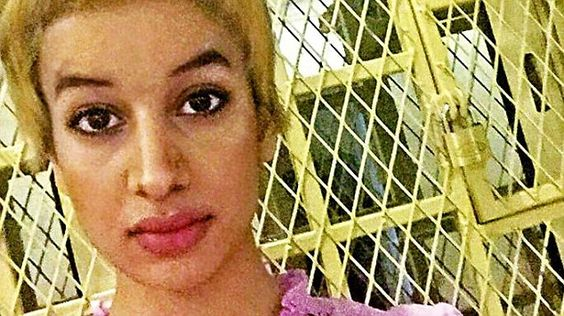 Amina Al-Jeffery - who was whisked off to the the Middle East four years ago - desperately...