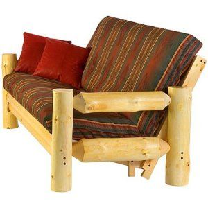 August Lotz Woods And Water Collection Rocky Mountain Futon Chair