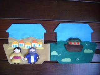 Arte Lúdica: LIVRO DE FELTRO A ARCA DE NOÉ: Infant, Book Ideas, Noah, Quiet Books, Felts, Book Bible, Ark