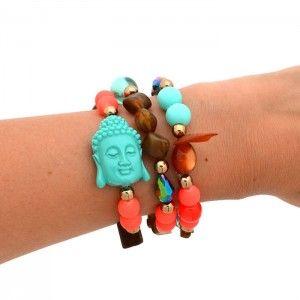 Pulsera Buda Verde Menta | Dulce Encanto accesorios para mujer.  www.dulceecanto.com - Tienda online de accesorios para mujer - Compra tus accesorios desde la comodidad de tu casa u oficina #accesorios #aretes #collares #pulseras #bolsos #bisuteria #moda #fashion #colombia