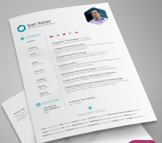 Creative Resume Templates Free 27 Best Cv Images On Pinterest  Resume Templates Infographic