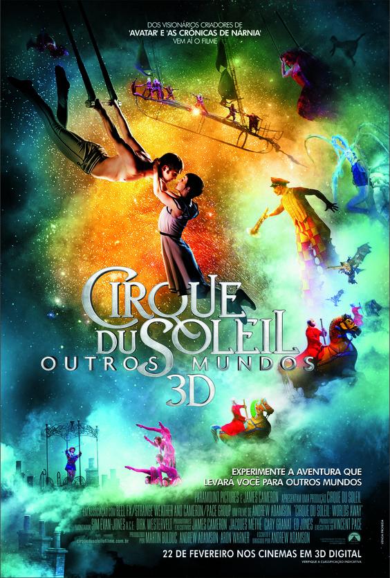 Cirque Du Soleil – Outros Mundos 3D    Elenco: Erica Linz, Igor Zaripov, Matt Gillanders e Jason Berrent.    Direção: Andrew Adamson    Gênero: Fantasia    Duração: A definir    Distribuidora: Universal Pictures    Estreia: 22 de Fevereiro de 2013    Site:http://www.worldsaway3d.com/    Trailer: http://youtu.be/aqm11mOjXrQ