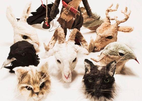 Sculptures of animal heads to put dolls or simply to love them! Animals Arts for Valeria Dalmon de ValeriaDalmon en Etsy