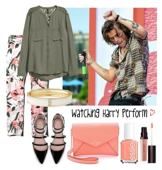 """""""Watching Harry perform"""" by tonioverthetop ❤ liked on Polyvore featuring Abercrombie & Fitch, H&M, Zara, Kate Spade, Essie, Laura Mercier and The Limited"""