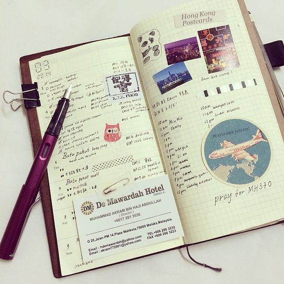Cuaderno del viajero del yea Diario Diaries- Wen / Algas Besos