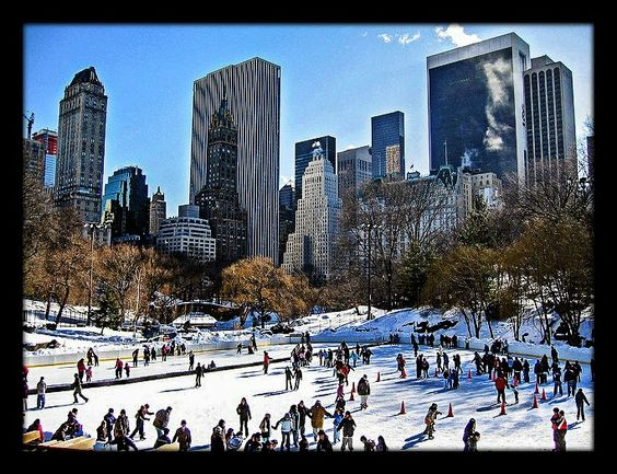 Central Park, New York City, NY - Wollman Skating Rink is a public ice rink in the southern part of Central Park.