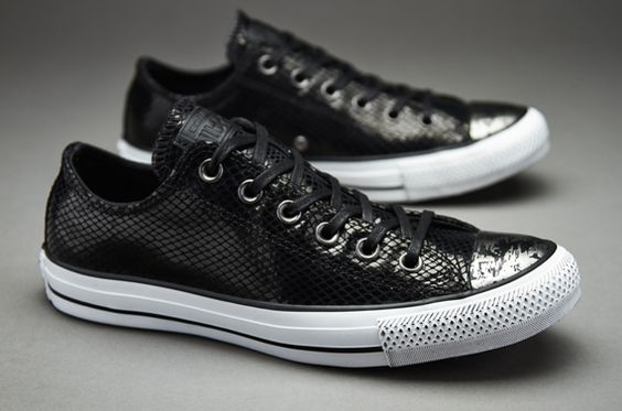 Converse Femmes Chuck Taylor All Star Snake Leather And Fur - Noir