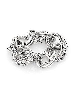 David Yurman Sterling Silver Curb Chain Bracelet