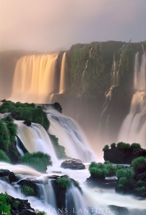 Waterfalls in Iguacu National Park, Brazil. Photo by National Geographic photographer Frans Lanting. UNESCO World Heritage Site. #nature #royalcaribbean