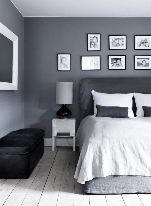 Tonos Grises Para Decorar Una Habitación Con Cuadros Gray Bedroom Walls Bedroom Wall Colors Bedroom Wall Paint