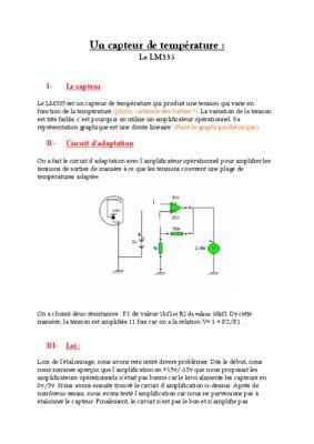 Exercice Corrige Sur Capteur De Temperature Thermocouple ...