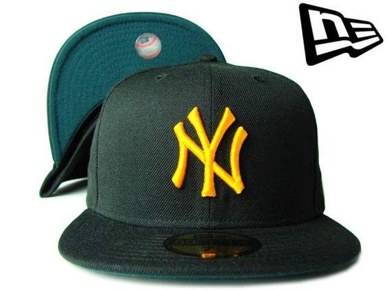 """【ニューエラ】【NEW ERA】59FIFTY カラーアンダーバイザー  NEW YORK YANKEES """"NY"""" ブラックXティールグリーンXイエロー【ニューヨーク・ヤンキース】【5950】【newera】【帽子】【NYC】【キャップ】【NY】【cap】【黒】【black】【yellow】【あす楽】【楽天市場】"""