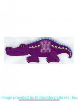 Stickmotiv Stickbild Aufnäher Stickerei Emblem Krokodil  Krokodil /  Stickerei Crocodile with Adinkra (A7170)