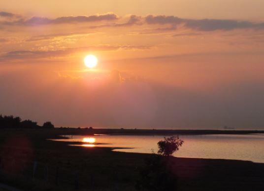 Sonnenuntergang bei Klausdorf, Fehmarn - Foto: S. Hopp