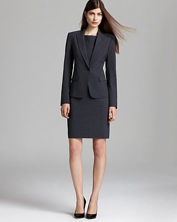 Sheath dress & matching blazer (suiting material), closed toe