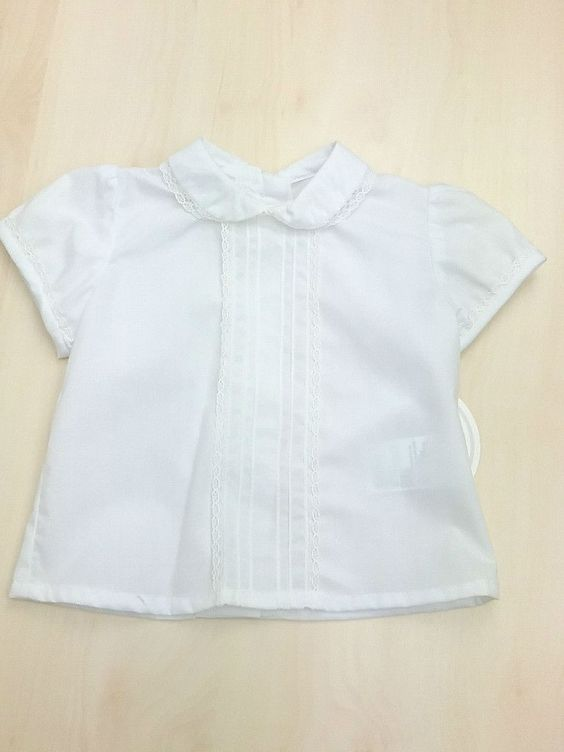 Blusa Blanca De La Marca Dolce Petit 65 Poliester 35 Algodon Talla 3 Meses En 2020 Moda Para Mujer Blusa Blanca Blusas