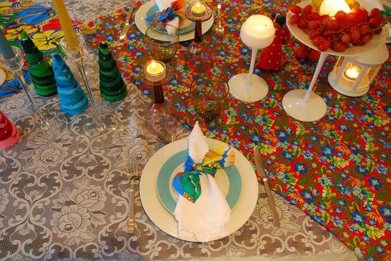 mesa de Natal tropical