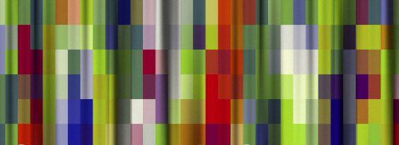 Jeroen Vinken, gordijnserie Mazzo, Italiaans voor 'boeket'. Het ontwerp kent zeven uitvoeringen, waarbij het bloemendessin het uitgangspunt was Door dat ontwerp te vervormen, uit te rekken, uit te vergroten komt hij tot de verschillende dessins die toch onderling verwant zijn. De (ingewikkelde) dessins zijn opgebouwd uit vier garenkleuren die hij door de toegepaste computergestuurde Jacquard weeftechniek uitvouwt tot 190 verschillende tinten. Waarvan de uiterste variant een 'zwart-wit'…