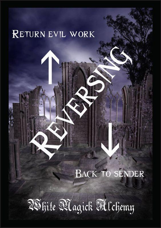Reversing Ritual Spell Jar Vigil Candle . Return Evil Work Back to ...