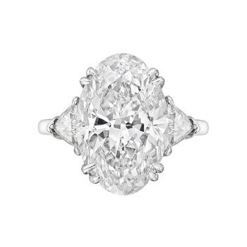 Harry Winston 6.45 Carat Oval-Cut Diamond Engagement Ring