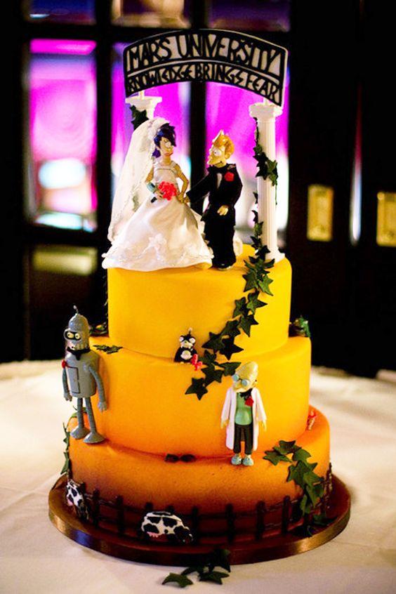 futurama wedding cake