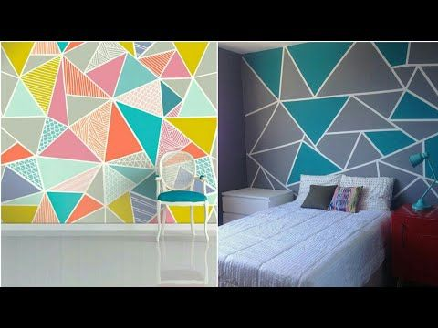 28 Triangle Wall Paint Designs Youtube