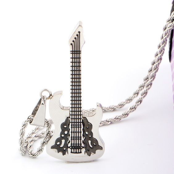 The Rockstar Guitar Necklace