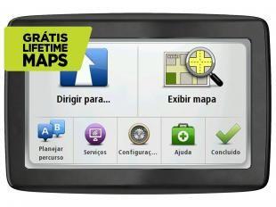 "GPS Automotivo Tomtom Via LTM 1505 M Tela 5"" - 4255 Cidades Navegáveis"