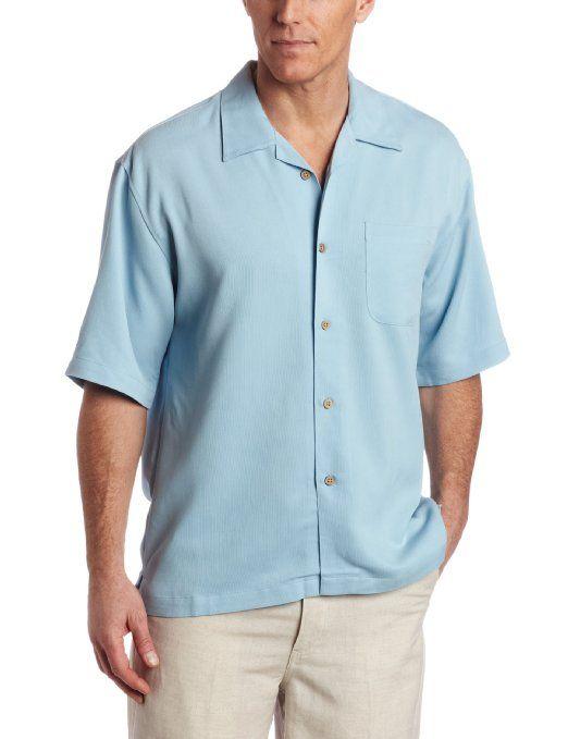 Cubavera men 39 s short sleeve bedford cord camp shirt for Mens short sleeve camp shirts