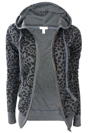 Just a basic animal print, thermal hoodie♥