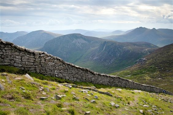 The Mourne Wall, Silent Valley, County Down.