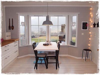 Kalkgrå kjøkken