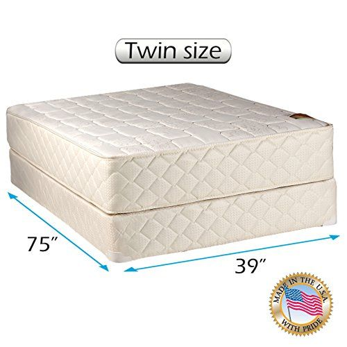 Dream Sleep Grandeur Deluxe 2 Sided Twin Size Mattress And Box Spring Set Orthopedic Fully Assembled Good For Your B Mattress Spring Set Twin Mattress Size