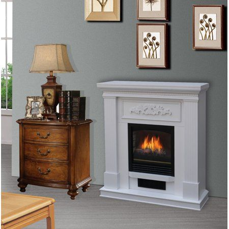 Bold Flame 38 Inch Wall Corner Electric Fireplace In White Walmart Com Corner Electric Fireplace Electric Fireplace Heater Fireplace Heater
