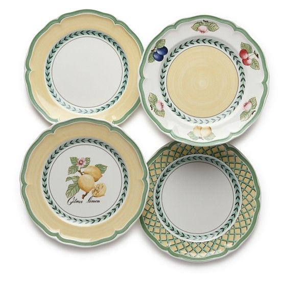 Villeroy and boch french garden salad plates setting for Villeroy and boch french garden