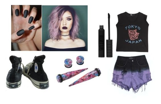 """""""Untitled #205"""" by hemmingsbxtch ❤ liked on Polyvore featuring Converse, Evil Twin, Y-3 and Topshop"""