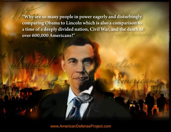 Why are many liberals comparing Obama with Abraham Lincoln, civil war, and the death of more than 600,000 Americans?