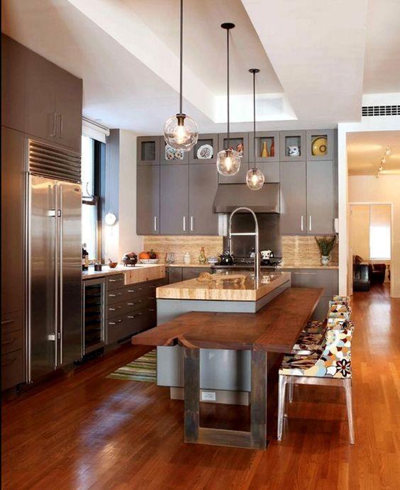 50 Best Kitchen Island Ideas For 2016 Contemporary Kitchen Kitchen Island Design Kitchen Layout