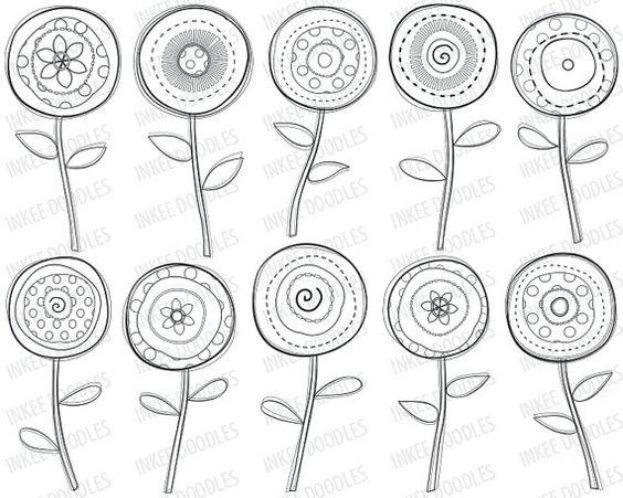 F te de printemps fleurs dessins blanc noir images mignon - Dessins de fleurs de printemps ...