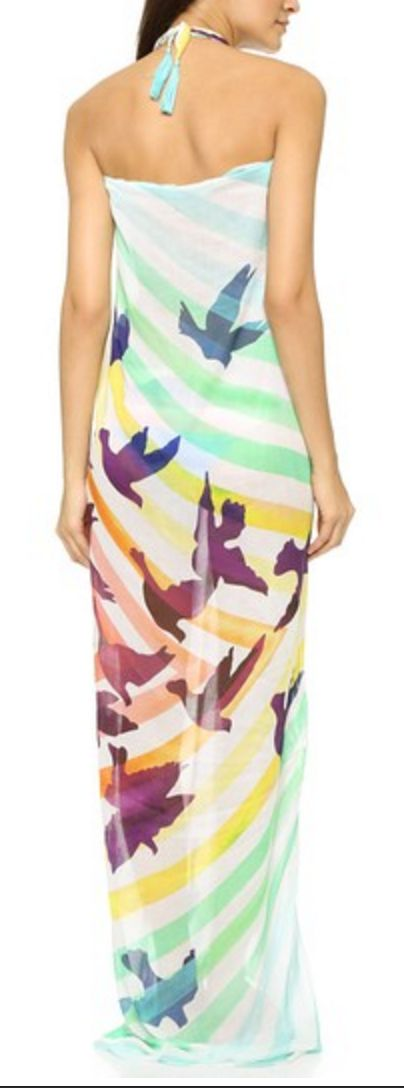 Candy Stripe Birds Sarong