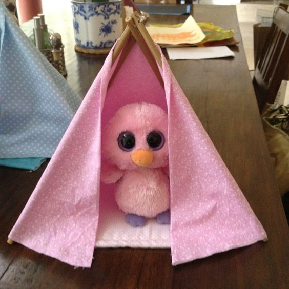 We made these for Teepees for Bugsy, Peanut and Posey this summer.