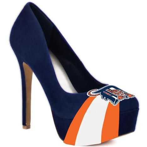 Women's Detroit Tigers Suede Pumps