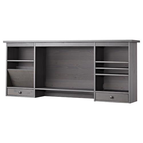 Hemnes Desk Gray Dark Gray Stained 61x25 5 8 Ikea In 2020 Hemnes Ikea Hemnes Desk Desk Light