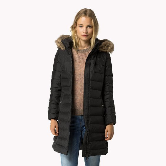 tommy hilfiger tyra down coat masters black black tommy hilfiger coats jackets main. Black Bedroom Furniture Sets. Home Design Ideas